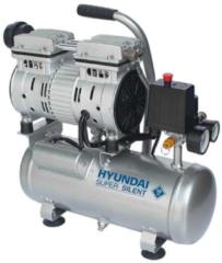 Hyundai Power Products Hyundai stille compressor 6 liter - olievrij - 8 BAR - 59 dB 'Super Silent'.