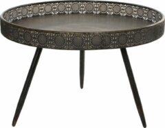 Bijzettafel Lagune rond metaal brons H45,5 x D70 - Home Deco meubels en tafels