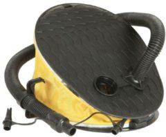 Gele Opblaas luchtpomp voor luchtbedden / rubber boten - Voetpomp 5 liter