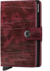 Rode Secrid Mini Wallet Dutch Martin pasjeshouder bordeaux