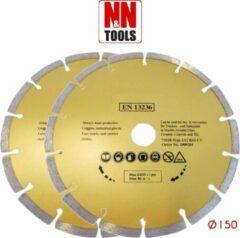 N&N Tools Diamantdoorslijpschijf Professional Multi Pack - 2 x 150 mm | Wet & Dry