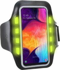 Zwarte Sport Armband Sportband Hardlopen met LED Verlichting Universeel voor Smartphone / Telefoon / Apple iPhone / Samsung / Huawei