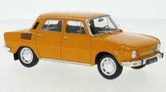 White box Skoda 100 L 1969 Oranje 1-24 Whitebox