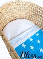 Bliss Babydeken - Wikkeldeken - Omslagdoek - Wiegdeken - Dekentje - Ster Aquablauw