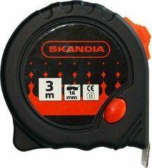 Zwarte Skandia Rolmaat - Rolbandmaat 3m - 16mm