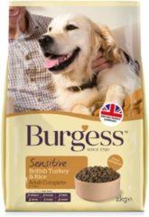 Burgess dog sensitive kalkoen / rijst hondenvoer 2 kg