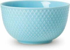 Lyngby Porcelain Rhombe Color bowl D11cm turquoise