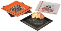 Oranje Harley-Davidson Pit Stop Snack Borden Set (4)