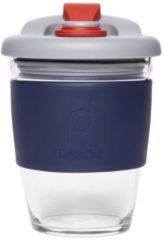Grijze Herbruikbare Koffiebeker - 340ml - Storm Grey - Glas - Pioneer