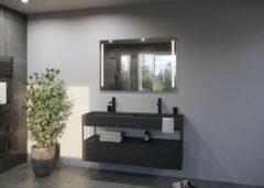 Zilveren Glaskoning.nl Spiegel met LED verlichting   100x80 cm  LUMI