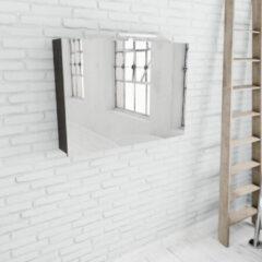 Zaro Beam donker eiken spiegelkast 100x70x16cm 2 deuren