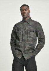 Urban Classics Overhemd -XL- Slim Worker Groen