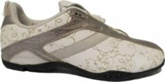 Witte DKNY Speed lace Dames Veterschoen Leather 23371719 165 Newspaper White Maat 39