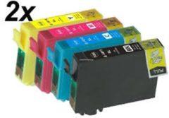 Gele Goedkoopprinten ACTIE: Epson T1285 inkt cartridges set (8st) - Huismerk
