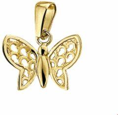 Goudkleurige The Jewelry Collection Hanger Vlinder Poli/mat - Geelgoud