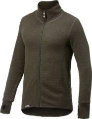 Woolpower - Full Zip Jacket 400 - Wollen jack maat S, zwart/olijfgroen