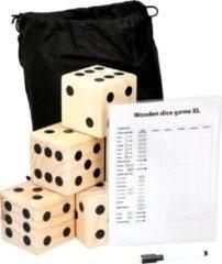 Bruine Lifetime Games giant dice game - 6 dobbelstenen (9x9x9cm) - scorebord met stift