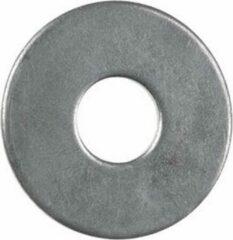 Zilveren Carrosseriering, Vlakke Sluitring 3xD, M10, (32/10,5mm x 1,5mm) Staal, Verzinkt, DIN9021, (100 stuks)