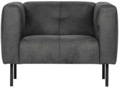 Donkergrijze Vtwonen Skin fauteuil donker grijs