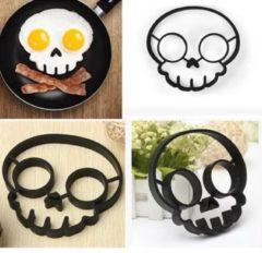 MHT Ei Ring - Pancake Ring - Doodskop- Zwart- Pancake Maker - 1 stuk - Keuze uit 10 Verschillende Varianten