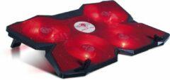 Spirit of Gamer SOG-VE500RE notebook cooling pad 43,2 cm (17'') 1200 RPM Zwart, Rood