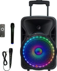 Zwarte N-Gear The Flash 1205 karaoke party speaker met 2 microfoons