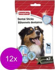 Beaphar Dental Sticks Middel/Grote Hond - Hondensnacks - 12 x 182 g 7 stuks