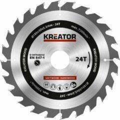 Kreator KRT020414 Cirkelzaagblad - Hout - 185 mm - 24T