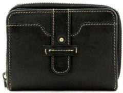 Zwarte DR Amsterdam Waxi Damesportemonnee black Dames portemonnee