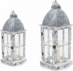 Gor Houten Windlicht Grijs Set 2-delig mandee.nl