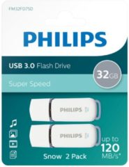 Witte Philips USB flash drive Snow Edition 32GB, USB3.0, 2-pack