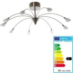 Heute-wohnen Deckenleuchte HW131, Deckenlampe Hängeleuchte, chrom 9-flammig EEK C