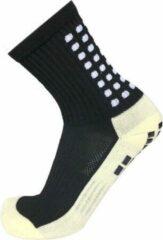 Zonder merk Gripsokken voetbal zwart - sportsokken - grip - anti blaren - compressie - prestatieverhogend - tennis - hardlopen - handbal - sporten - fitness