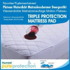 Homéé® Protection Homéé - Plateau Waterdicht PU Matrasbeschermer doorgestikt - Wit - 90x200/30cm