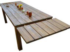 Verlängerung für den rustikalen Holztisch 50x90cm Grasekamp braun