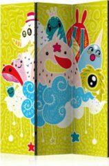 Kamerscherm - Scheidingswand - Vouwscherm - Happy Creatures [Room Dividers] 135x172 - Artgeist Vouwscherm