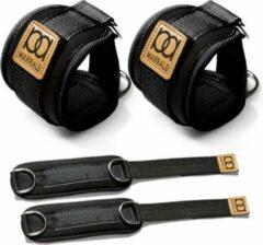 Marrald Enkelband Fitness 2 Stuks - Ankle Cuff - kabelmachine sport beenband strap - Zwart