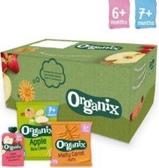 Organix Baby Snack Box - Vanaf 6 maanden - Biologisch - 24 stuks - Snacks en Knijpfruit