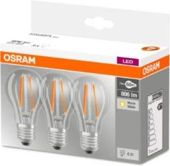 OSRAM LED Energielabel A++ (A++ - E) E27 Peer 7 W Warmwit (Ã x l) 60.0 mm x 105.0 mm 3 stuk(s)