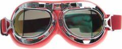 CRG rode pilotenbril multi kleur