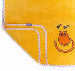 Milk & Moo Tombish Cat babydeken - Oranje