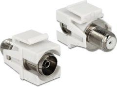 Delock Keystone F-connector vrouwelijk - verzonken Coax vrouwelijk module wit