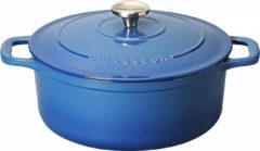 Blauwe Chasseur Ronde Stoofpan in Geëmailleerd Gietijzer Poseidon 2,5l - 20cm 4720 41