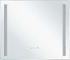 Witte Beliani Badkamerspiegel met LED-verlichting LIRAC