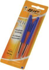 Merkloos / Sans marque Balpen Bic M10 Clic Blauw Medium Blister Per 2 stuks