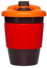Rode Herbruikbare Koffiebeker - 340ml - Vulcano Red - Kunststof - Pioneer