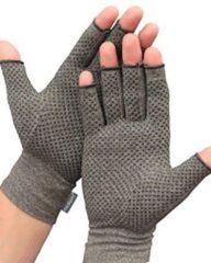 Grijze Medi-paq Artritis Compressie Handschoen met Anti-slip maat