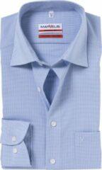 Blauwe Marvelis Normaal (licht getailleerd) Onbekend Heren Overhemd Maat XL