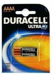 Duracell MN2500 Ultra AAAA batterij (mini) AAAA (mini) Alkaline 1.5 V 600 mAh 2 stuk(s)