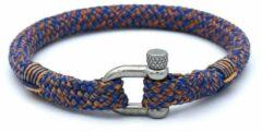 MR. JACOB Jack blauw-oranje touw armband